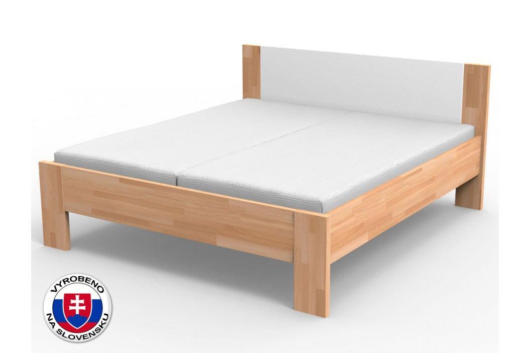 Manželská postel 220x160 cm - Styler - Nikoleta - čalouněný čelo (masiv)