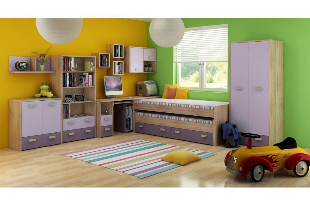 Dětský pokoj - WIP - Kitty 1 Sonoma světlá + fialová