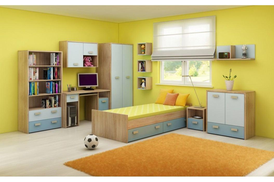 Dětský pokoj - WIP - Kitty 2 Sonoma světlá + modrá