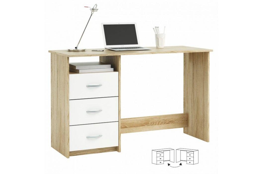 PC stolek - Laristote 101000 Dub Sonoma+bílá L/P