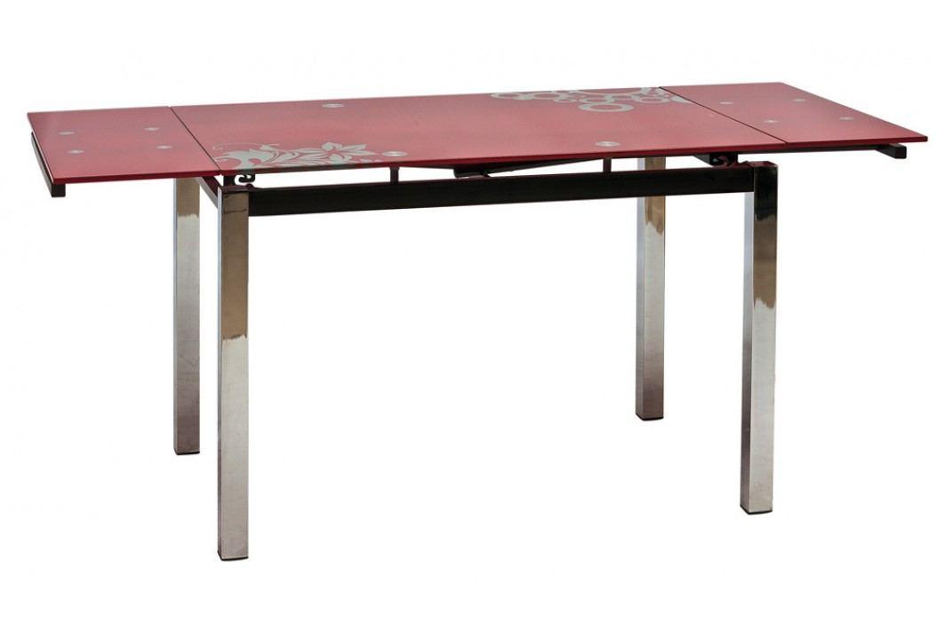 Jídelní stůl - Signal - GD-017 červený (pro 4 až 6 osob)
