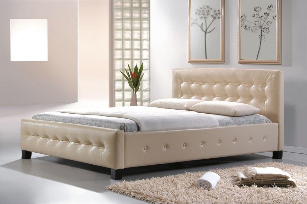 Manželská postel 160 cm - Signal - Barcelona krémová (s roštem)