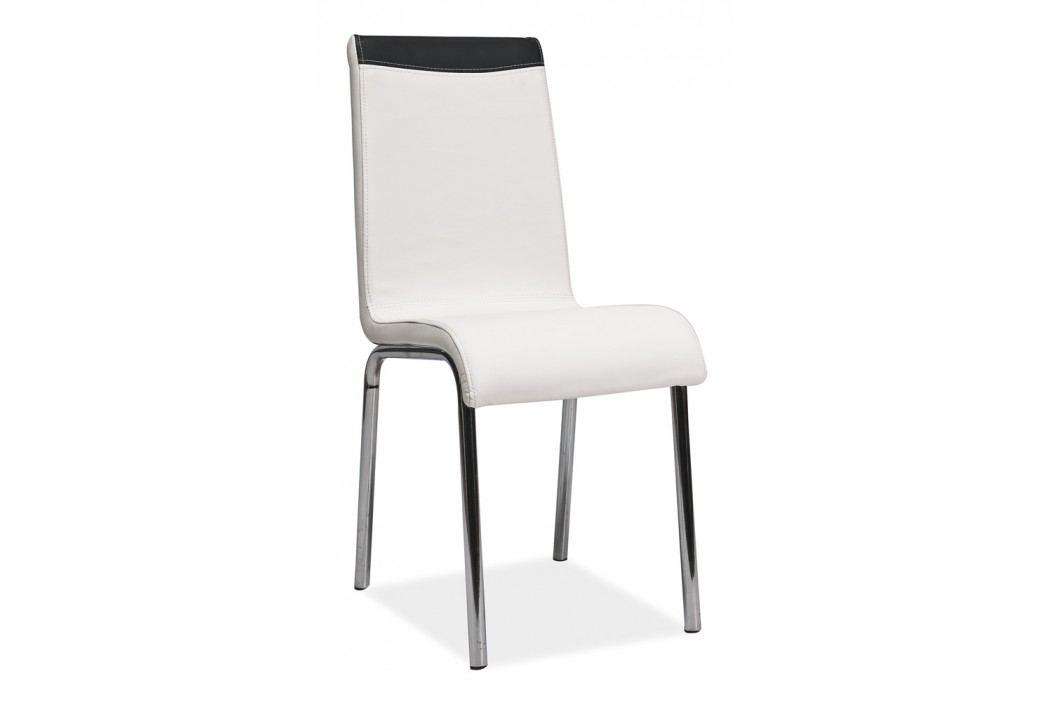 Jídelní židle - Signal - H-161 bílá + černá