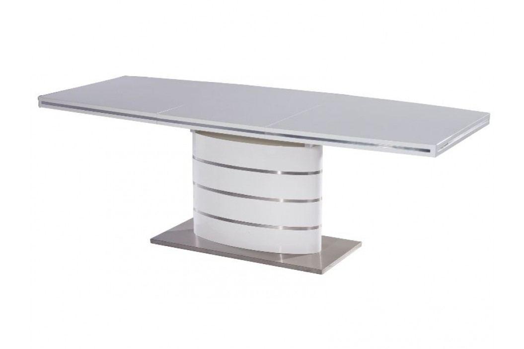Jídelní stůl - Signal - Fano (lesk vysoký bílý) (pro 6 osob až 8 osob)