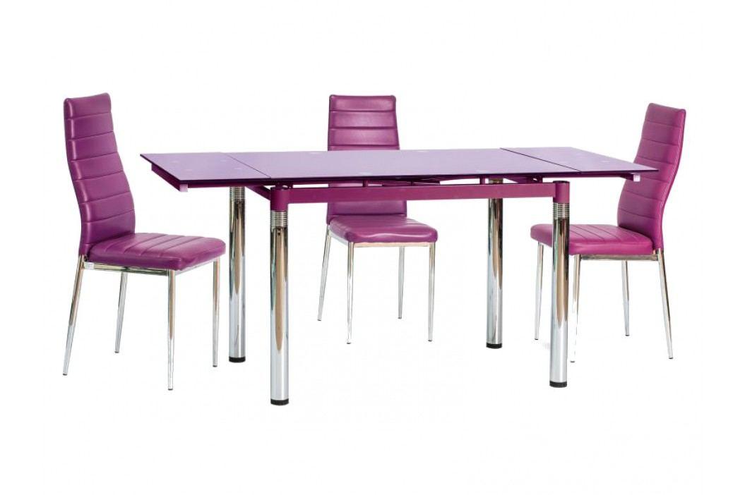 Jídelní stůl - Signal - GD-018 (fialová) (pro 4 až 6 osob)