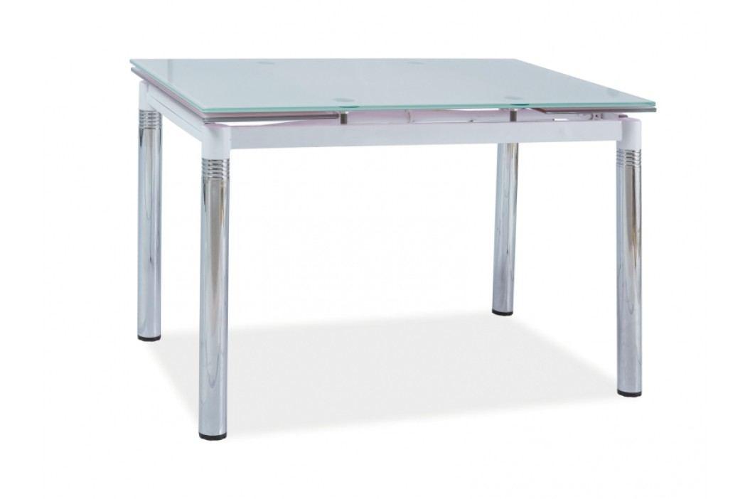 Jídelní stůl - Signal - GD-018 (bíla + chróm) (pro 4 až 6 osob)