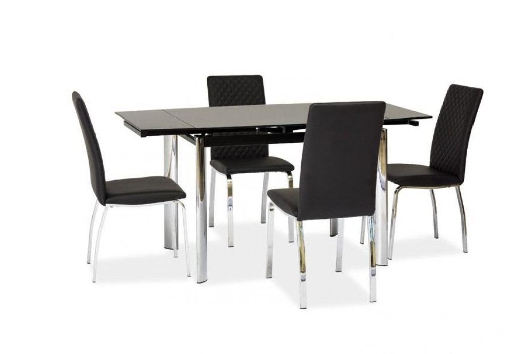 Jídelní stůl - Signal - GD-019 (černá + chróm) (pro 4 až 6 osob)