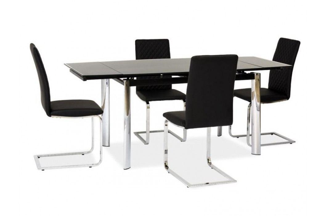 Jídelní stůl - Signal - GD-020 (černá + chróm) (pro 6 osob až 8 osob)