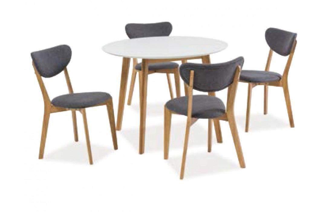 Jídelní stůl - Signal - Mosso II (dub biely) (pro 4 osoby)