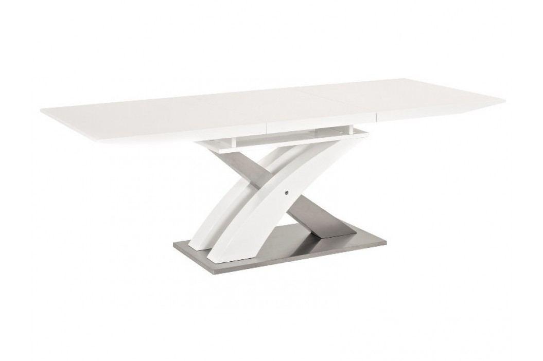 Jídelní stůl - Signal - Raul (lesk vysoký bílý) (pro 6 osob až 8 osob)