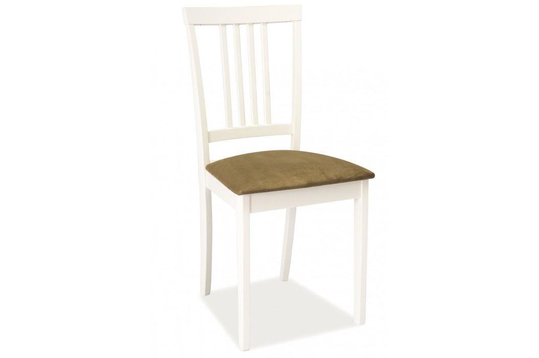 Jídelní židle - Signal - CD-63 (bílá + béžová)