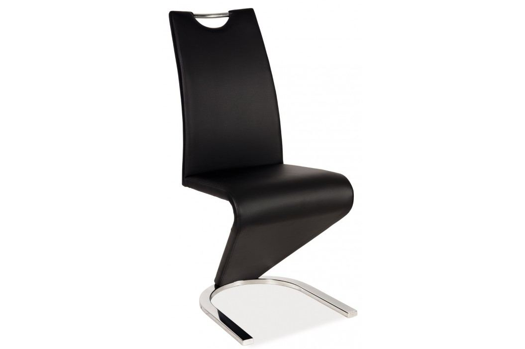 Jídelní židle - Signal - H-090 (ekokůže černá)