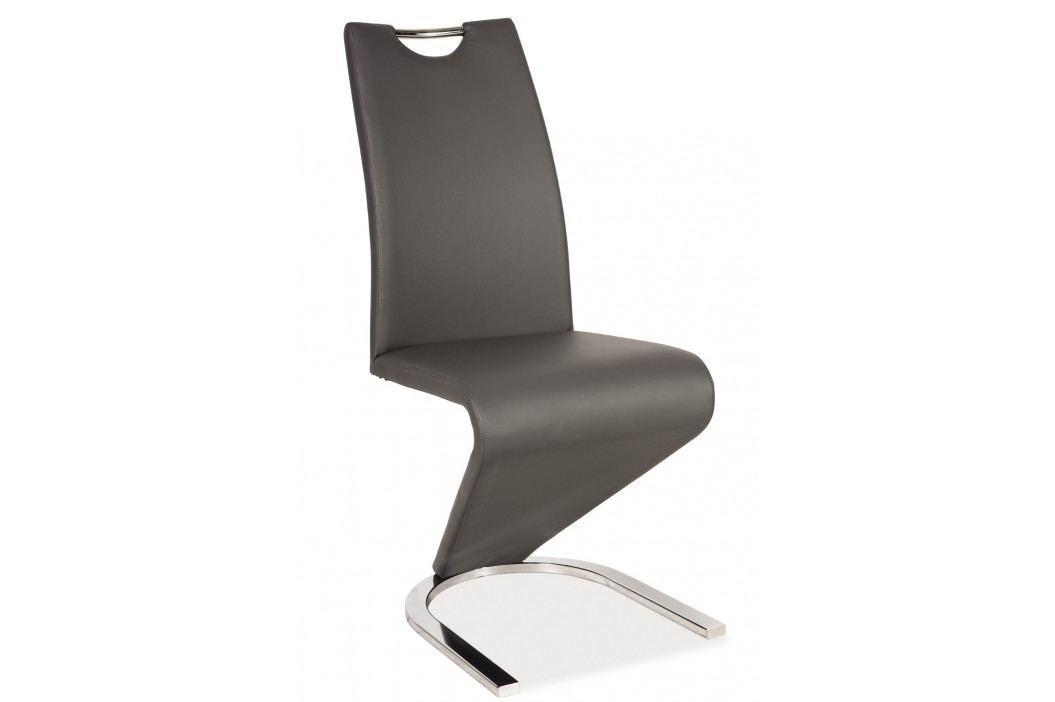 Jídelní židle - Signal - H-090 (ekokůže šedá)