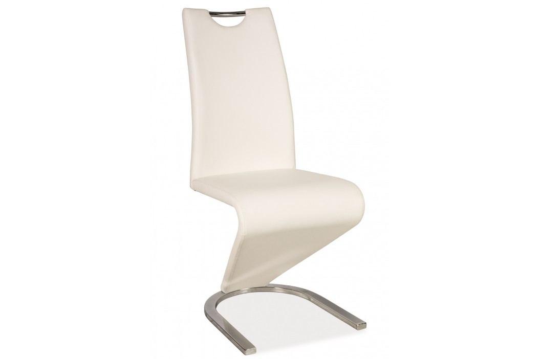 Jídelní židle - Signal - H-090 (ekokůže bílá)