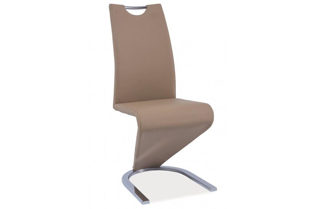 Jídelní židle - Signal - H-090 (ekokůže tmavě béžová)