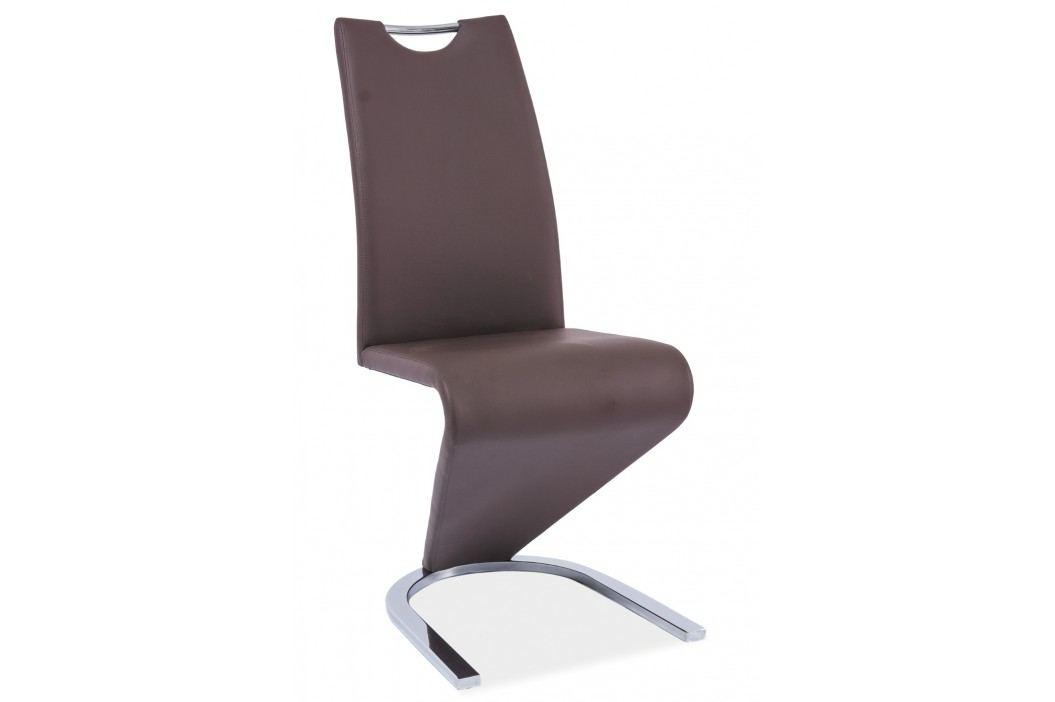 Jídelní židle - Signal - H-090 (ekokůže hnědá)