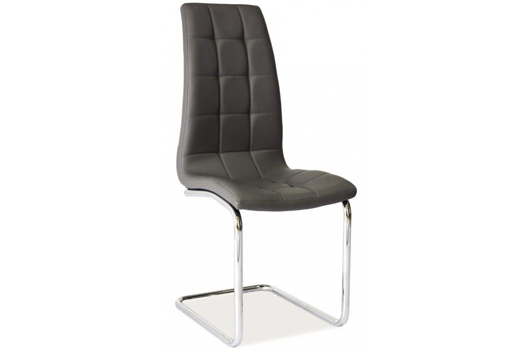 Jídelní židle - Signal - H-103 (ekokůže šedá)
