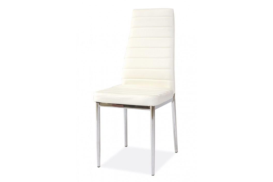 Jídelní židle - Signal - H-261 (ekokůže bílá)