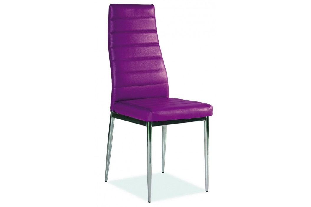 Jídelní židle - Signal - H-261 (ekokůže fialová)