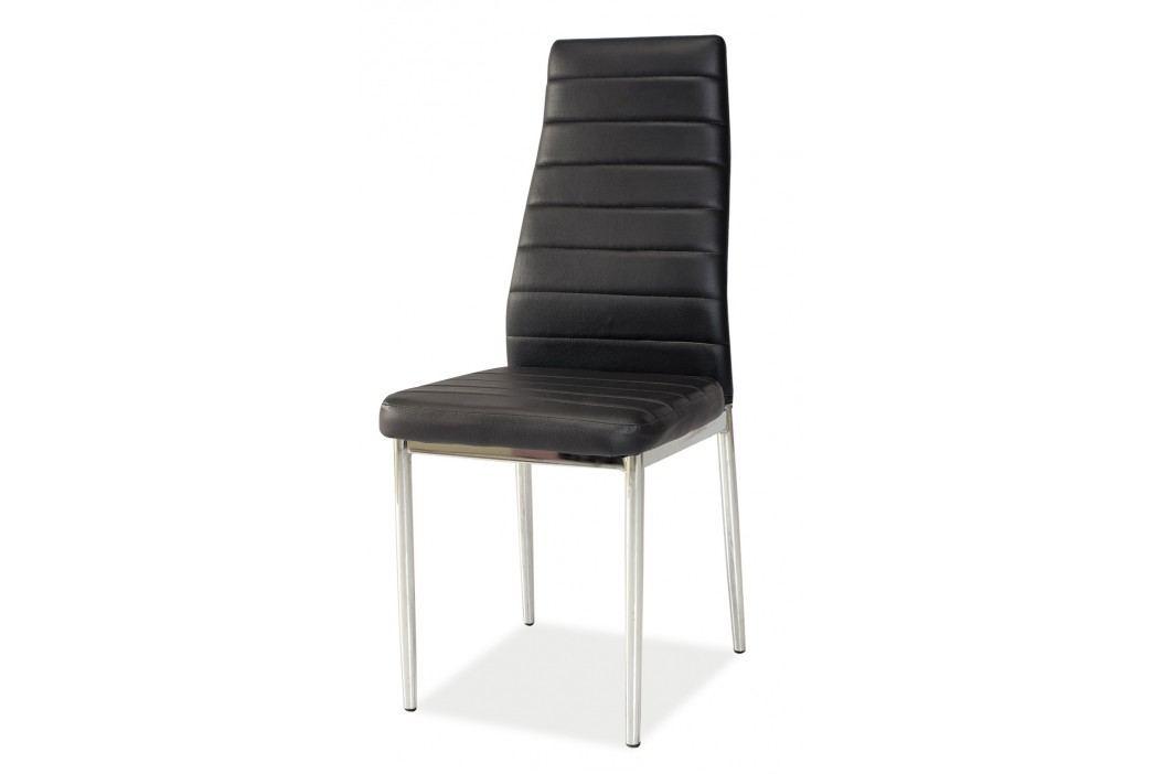 Jídelní židle - Signal - H-261 (ekokůže černá)