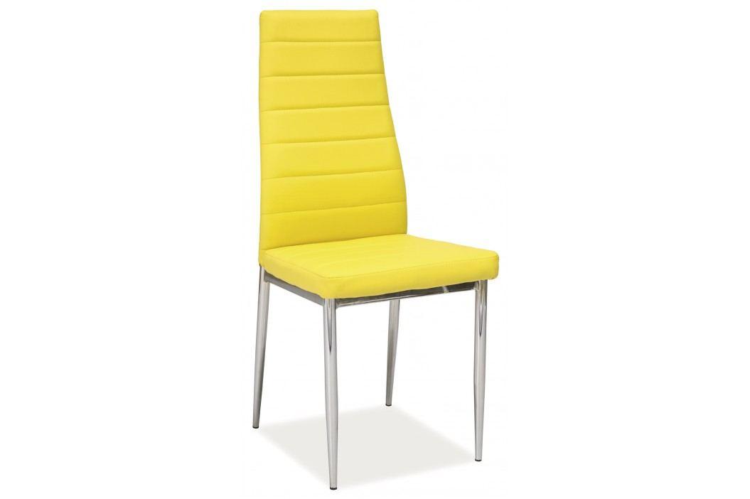 Jídelní židle - Signal - H-261 (ekokůže žlutá)