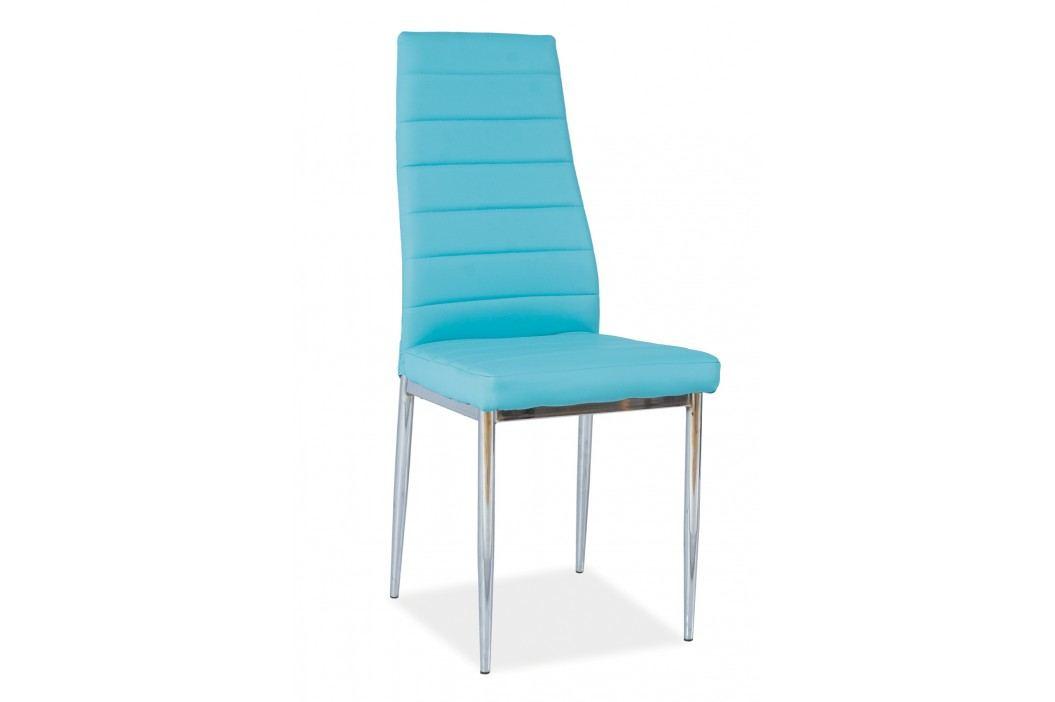 Jídelní židle - Signal - H-261 (ekokůže modrá)