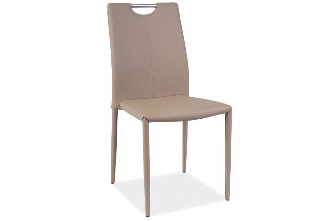 Jídelní židle - Signal - H-322 (ekokůže tmavě béžová)