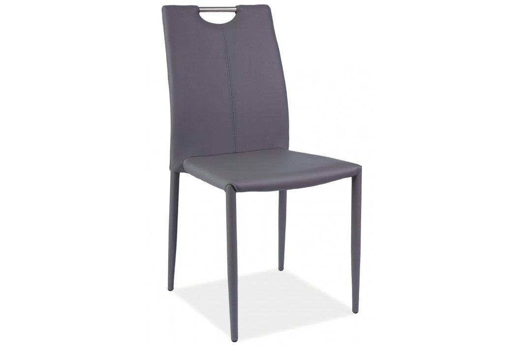 Jídelní židle - Signal - H-322 (ekokůže šedá)