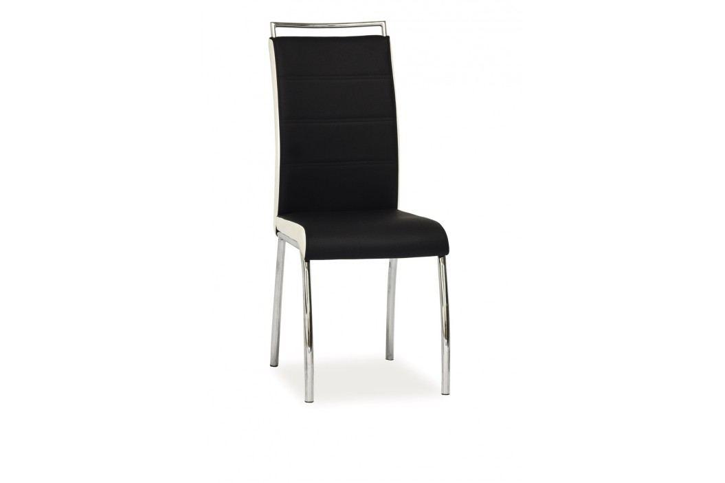 Jídelní židle - Signal - H-442 (ekokůže černá + bílá)
