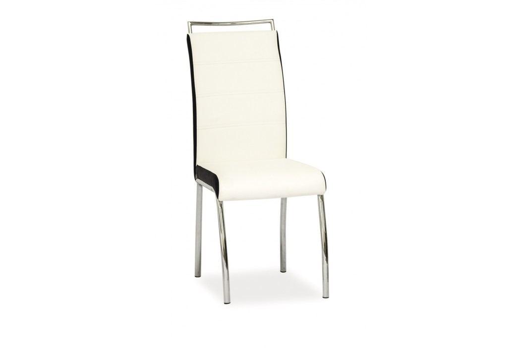 Jídelní židle - Signal - H-442 (ekokůže bíla + černá)