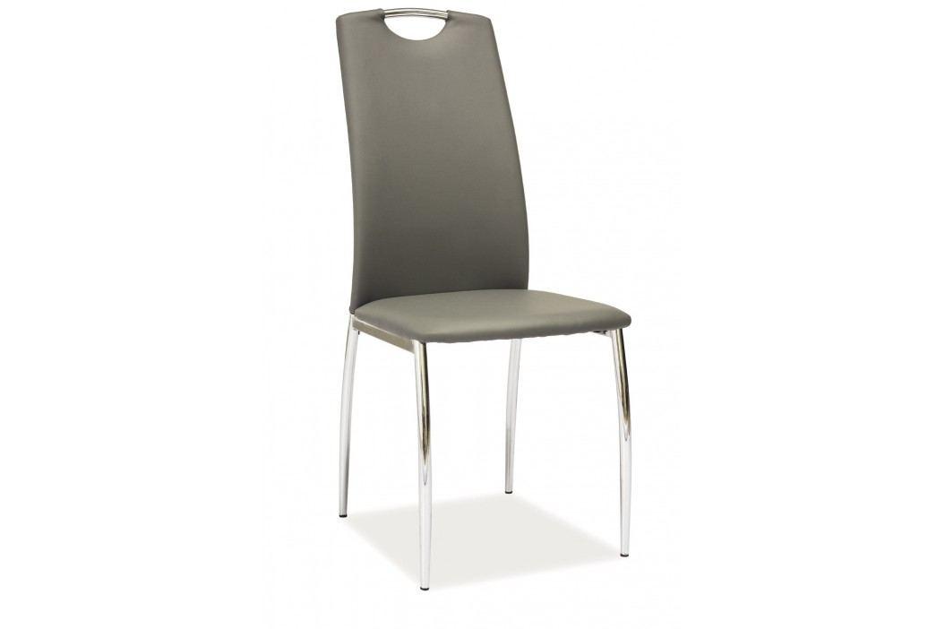 Jídelní židle - Signal - H-622 (ekokůže šedá)