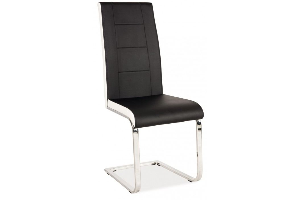 Jídelní židle - Signal - H-629 (ekokůže černá + bílá)