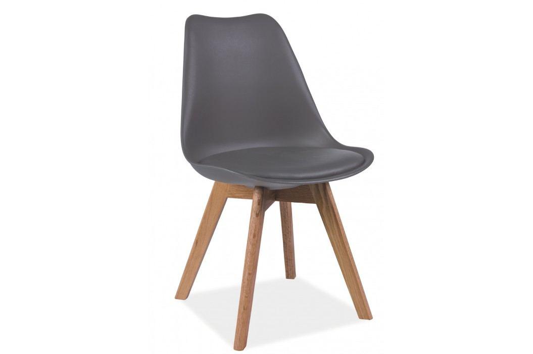 Barová židle - Signal - Kris (šedá + dub)
