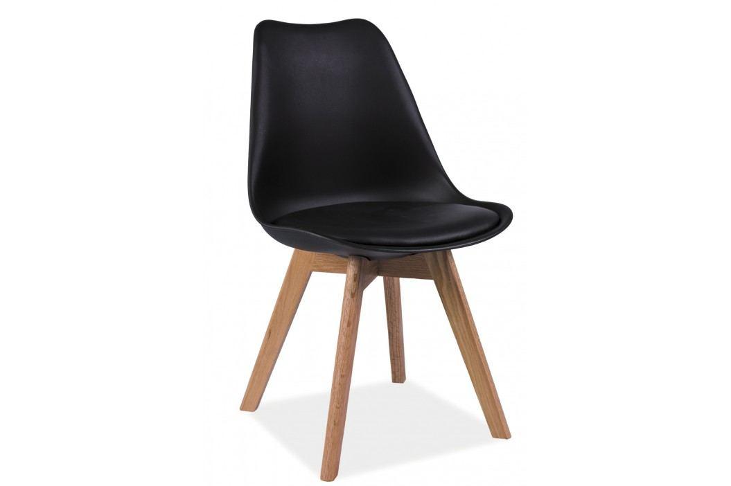 Barová židle - Signal - Kris (černá + dub)