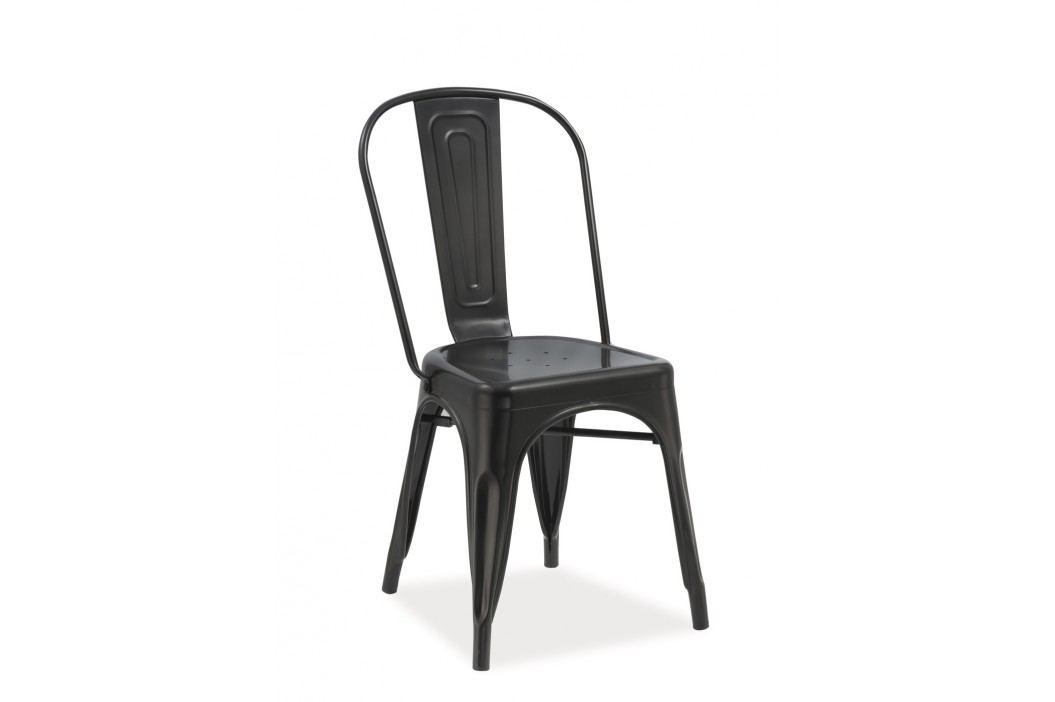 Jídelní židle - Signal - Loft (matná černá)