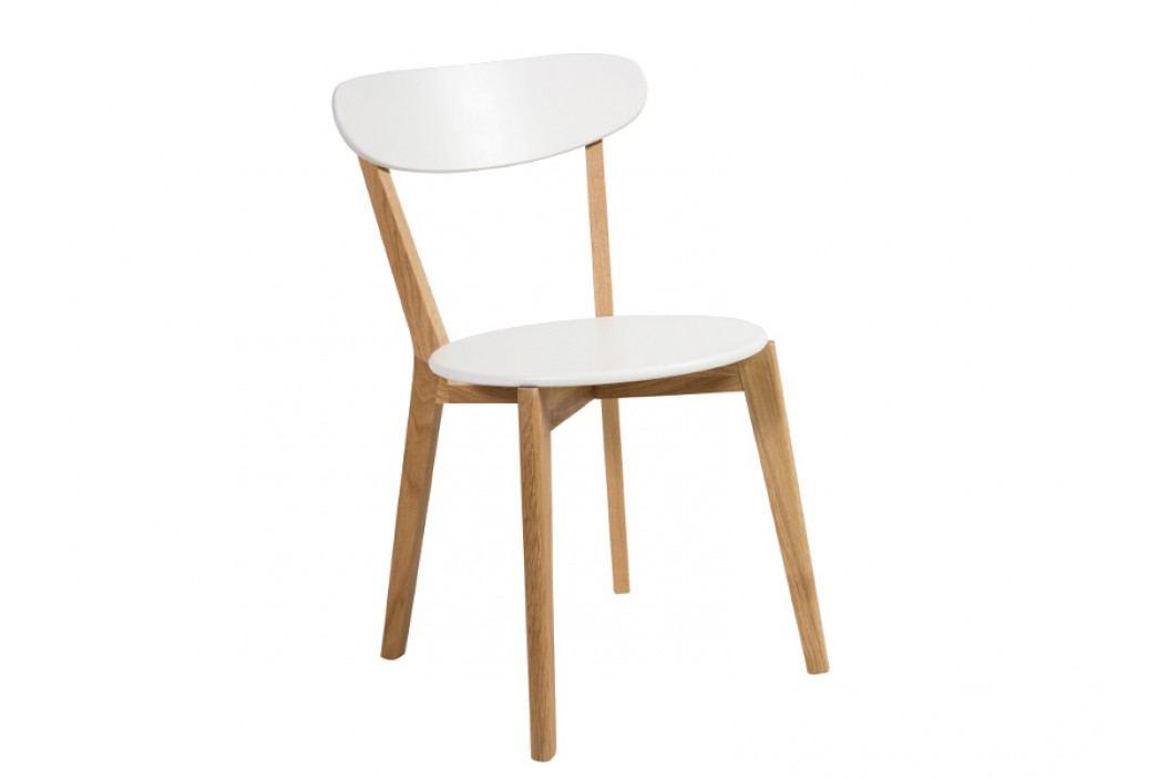 Jídelní židle - Signal - Milan (bílá + dub)