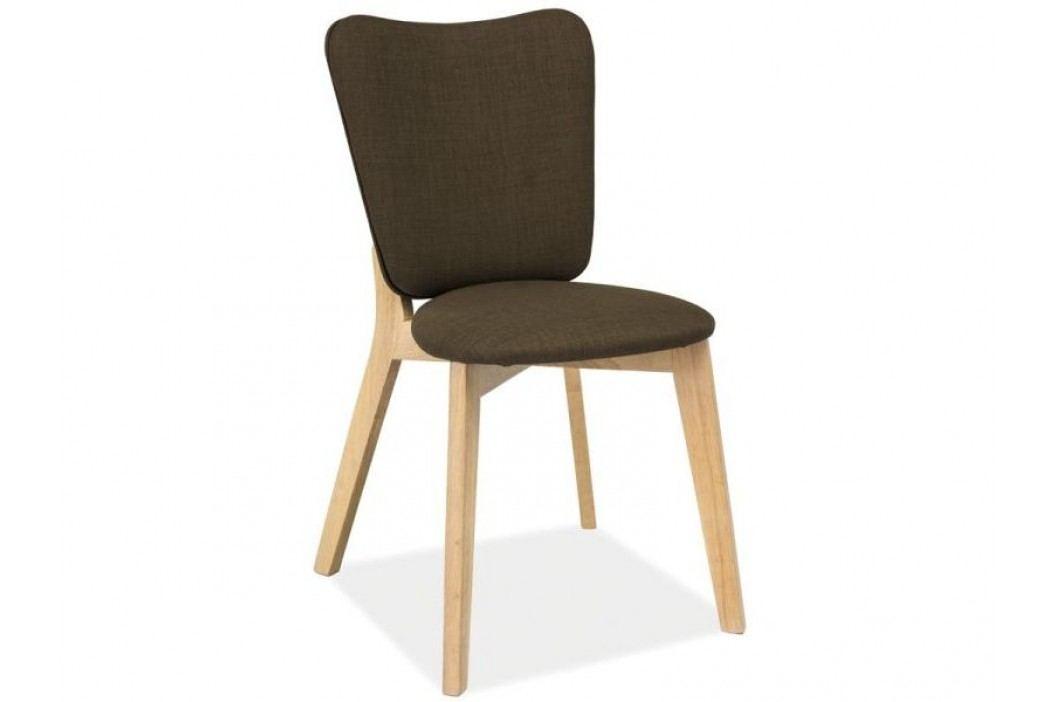 Jídelní židle - Signal - Montana (biely dub + khaki)
