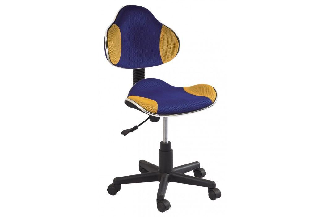 Kancelářské křeslo - Signal - Q-G2 (modrá + žlutá)