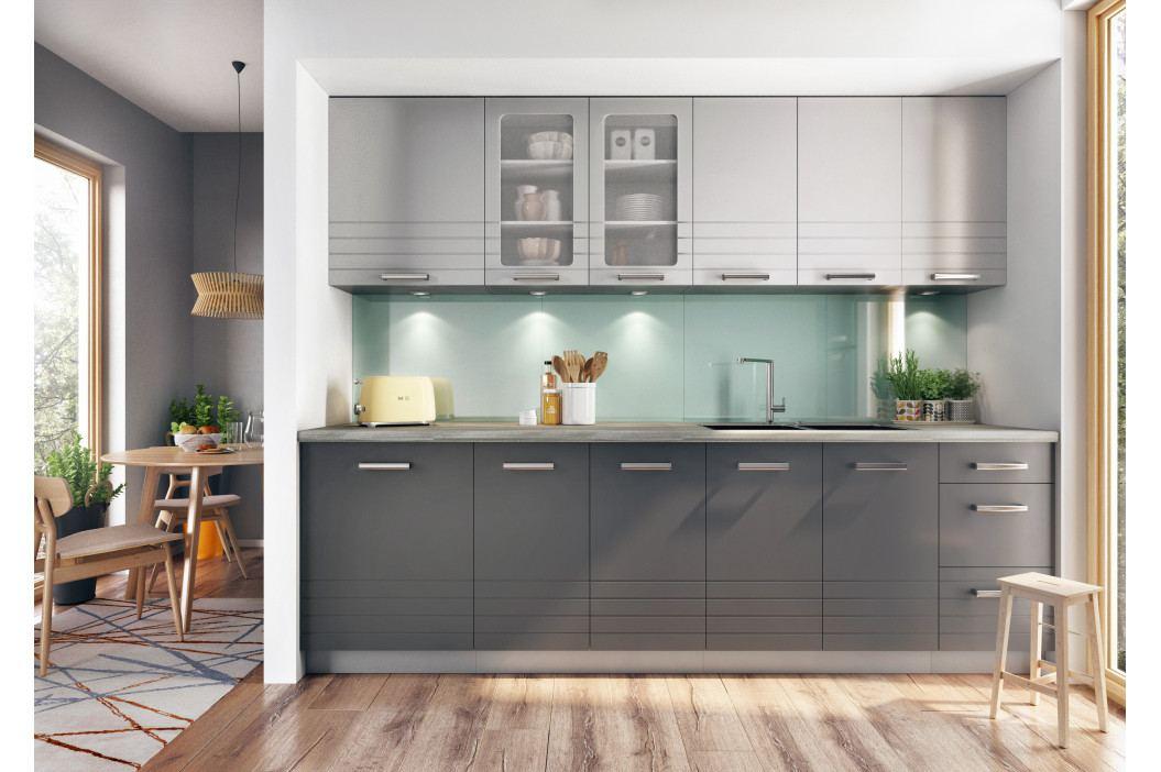 Kuchyň Paulita 260 cm (matná sivá)