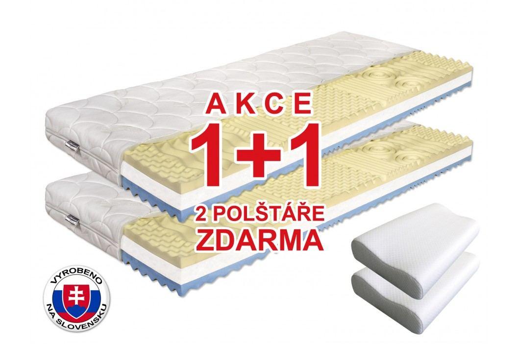 Pěnová matrace - Benab - Visco Plus - 200x80 cm (T3/T4) *AKCE 1+1 + dva polštáře zdarma