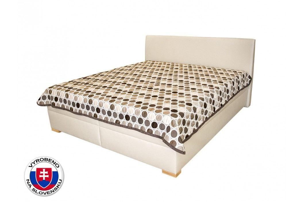 Manželská postel 180 cm - Benab - Toscana (s roštem a přehozem)