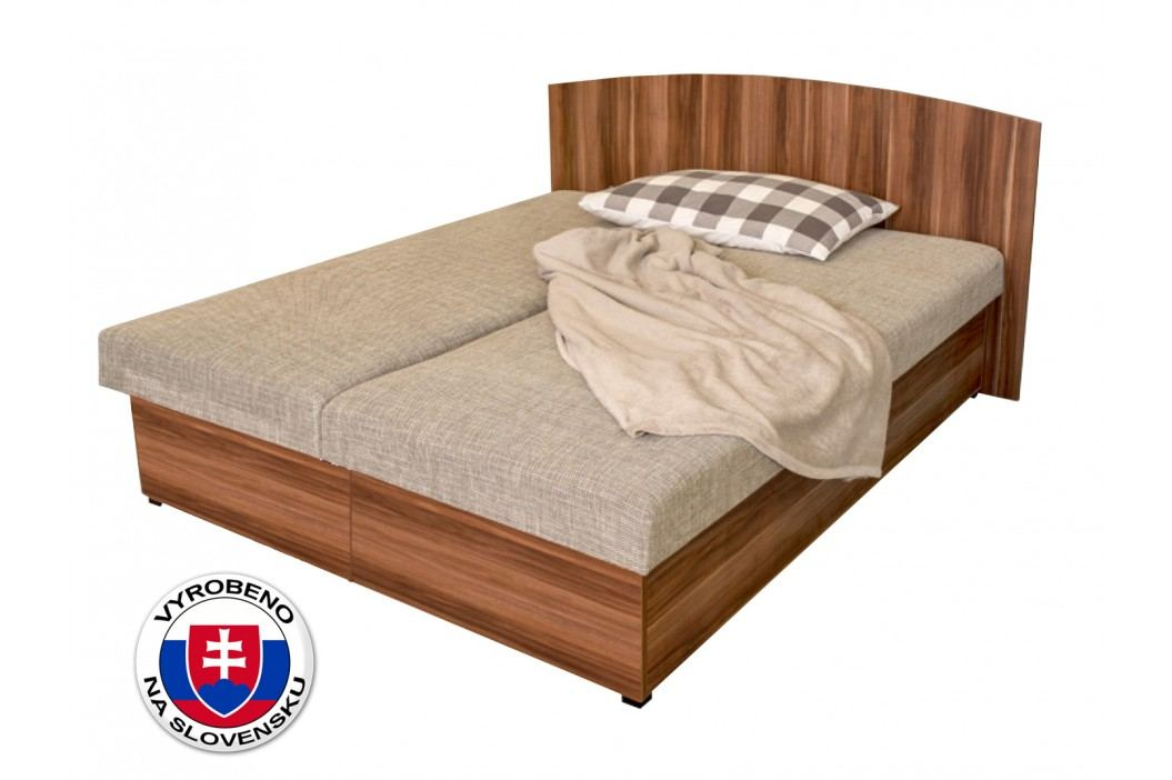 Manželská postel 160 cm - Benab - Carina Wood (s rošty a matracemi)