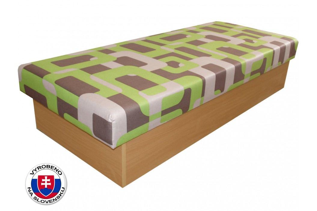 Jednolůžková postel (válenda) 80 cm - Benab - Roger (Gusto Zelené) (s matrací)