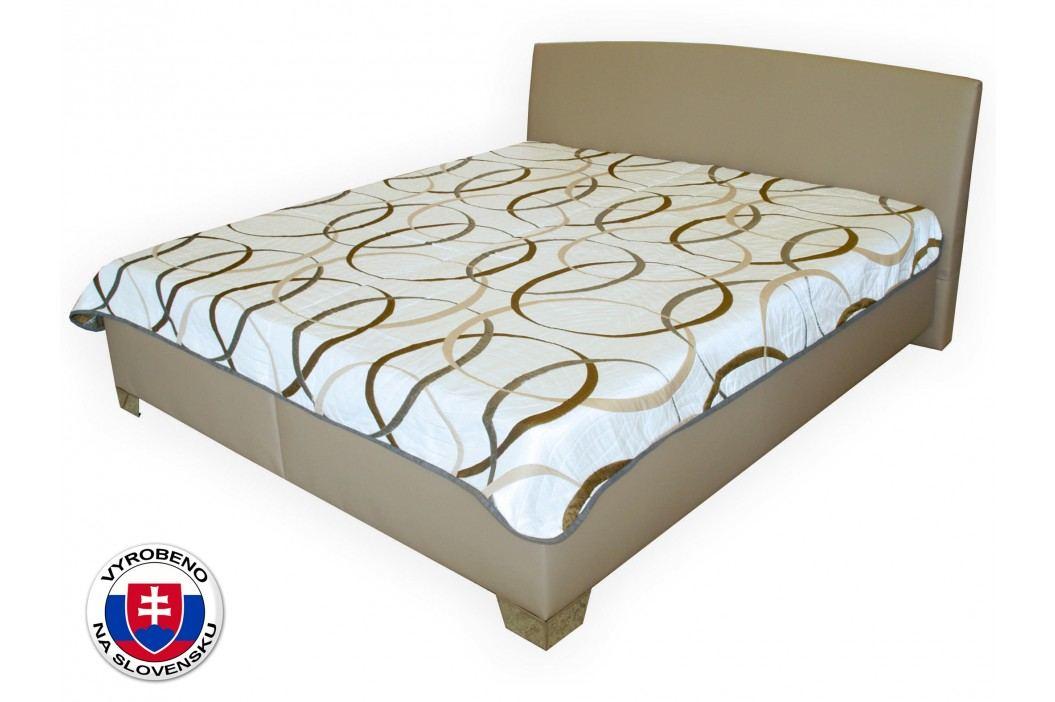 Manželská postel 180 cm - Benab - Tamira (hnědá) (s rošty a matracemi Zero a přehozem)