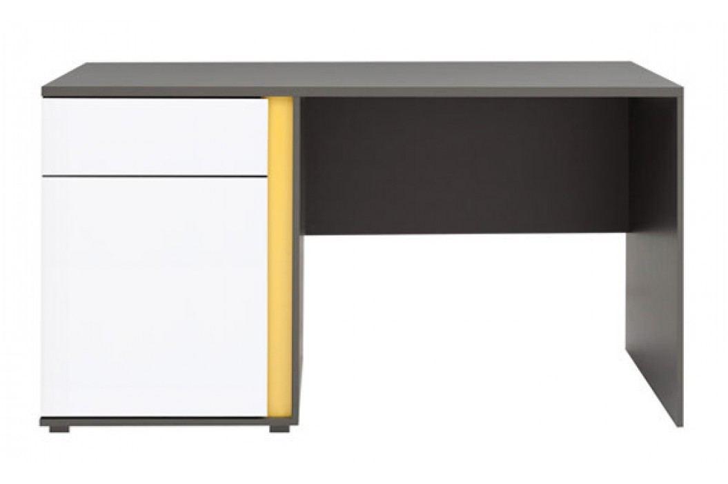 PC stolek - BRW - Graphic - BIU1D1SL lesk bílý
