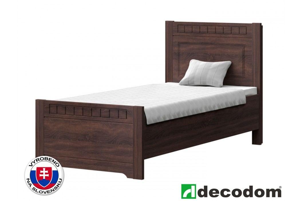 Jednolůžková postel 90 cm - Decodom - Lirot - Typ P-90 (dub řezaný schoko)