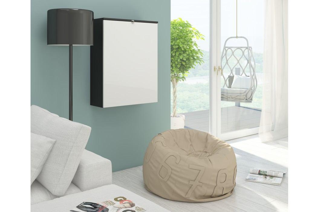 PC stolek - WIP - Hide černá + lesk bílý