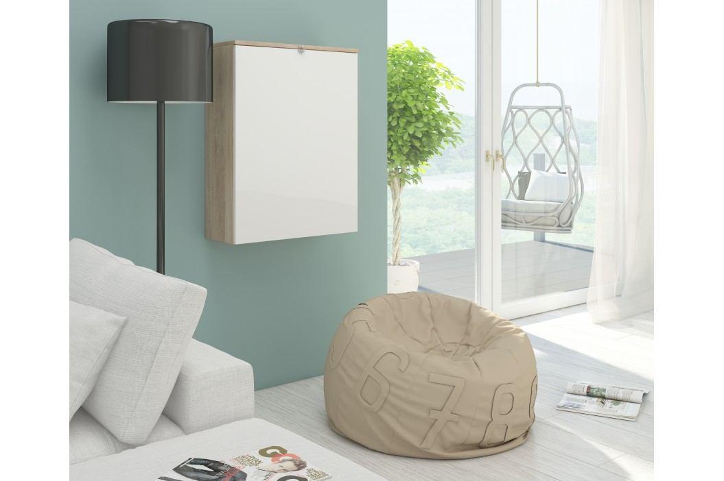 PC stolek - WIP - Hide dub sonoma světlý + lesk bílý