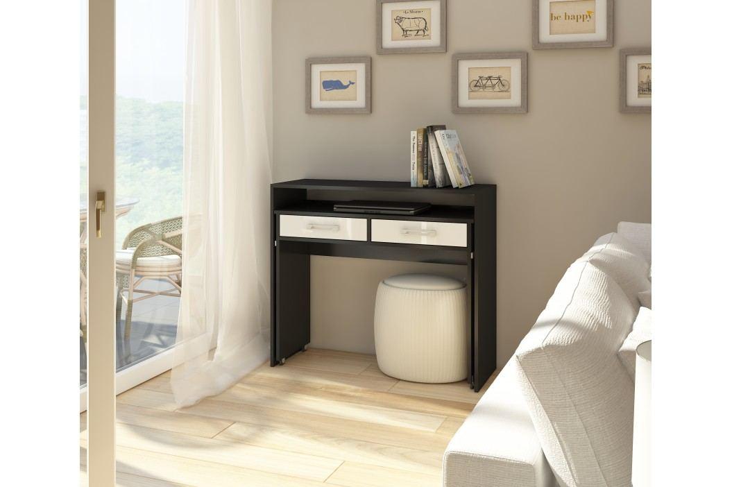PC stolek - WIP - Zoom černá + lesk bílý