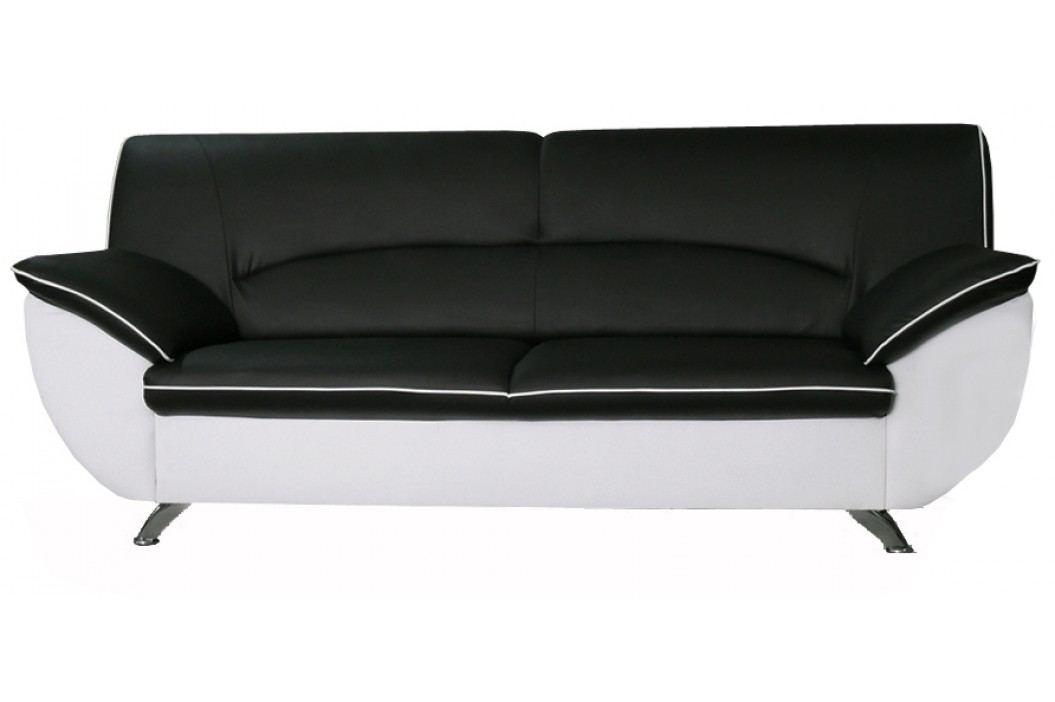 Pohovka dvojsed - Po-Sed - Rivera (černá + bílá) (199 cm)